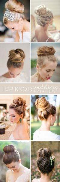 Wedding Hairstyle For Long Hair : Top Knot - Wedding Hair ...