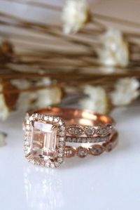 Engagement Rings : Rose gold bridal accessories ...