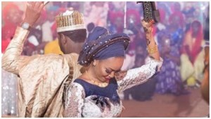 Senator Sani Yerima's Daughter-In-Law Rocks a N784K on Her Wedding Day