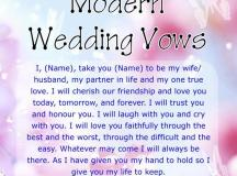 Modern Wedding Marriage Vows - Sample Vow Examples ...