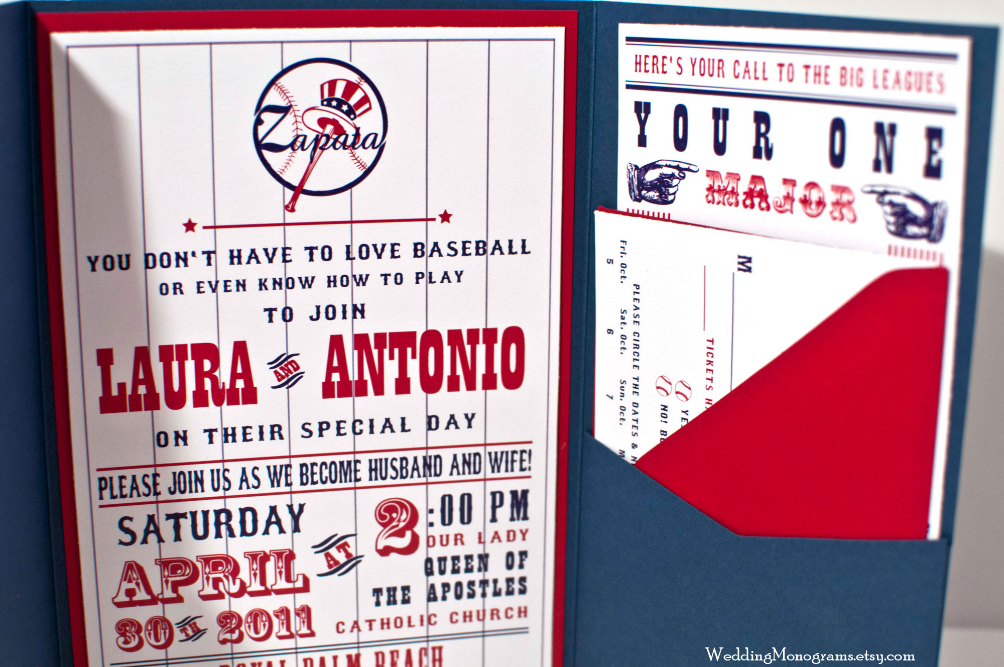 baseball themed wedding invitations