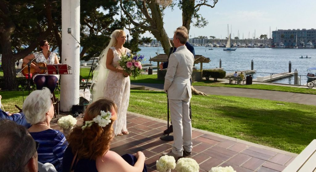 Wedding Santa Monica Windjammers Yacht Club Elegant Music