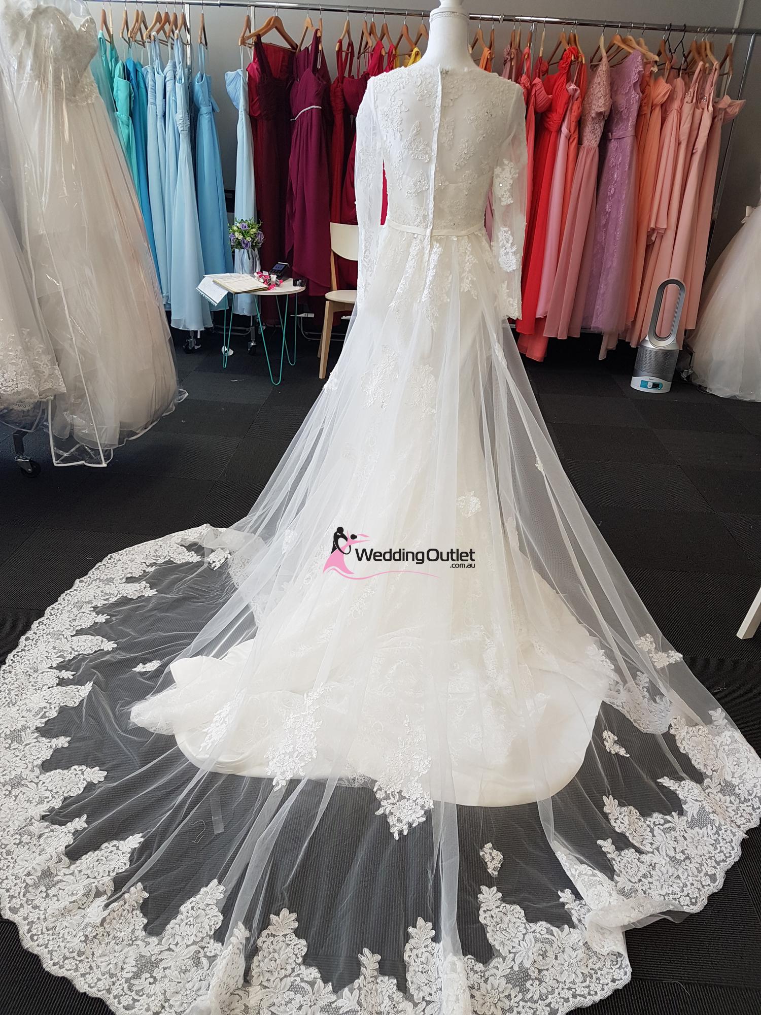 2 in 1 Wedding Dress Style Bridget Detachable Train  WeddingOutletcomau