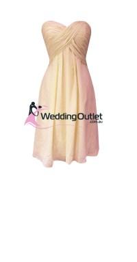 Beige Bridesmaid Dresses Style #R101 Short - WeddingOutlet ...
