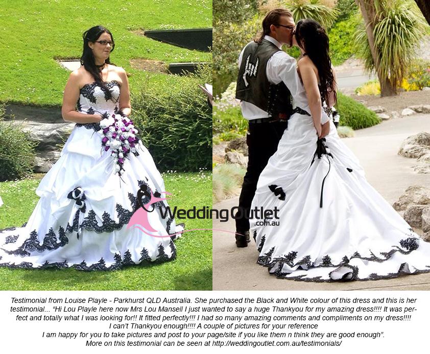 Scarlett Black And White Wedding Dress
