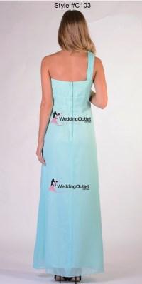 Aqua Bridesmaid Dress Style #C103 - WeddingOutlet.com.au