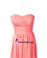 Coral Pink Bridesmaid Dresses Style #O101 - WeddingOutlet ...