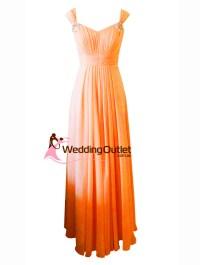 Orange Maxi Bridesmaid Dress Style #A1029 - WeddingOutlet ...