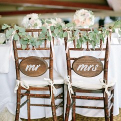 Mr And Mrs Chair Signs Double With Pull Out Bed Bride Groom For Every Couple S Style Wedding Simple