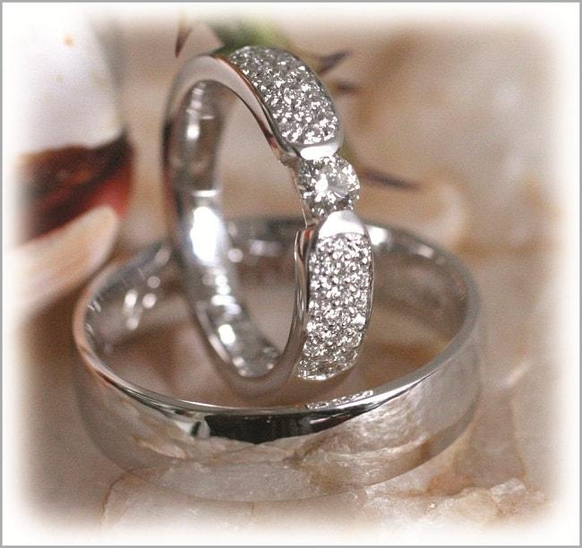 Diamond Wedding Rings FT281 White Gold or Platinum