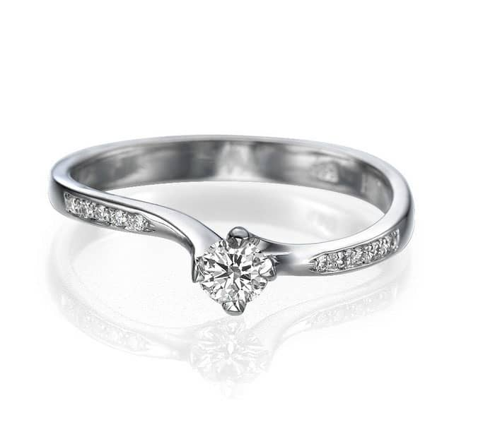 IM676 Promise Rings For Women, Platinum Band