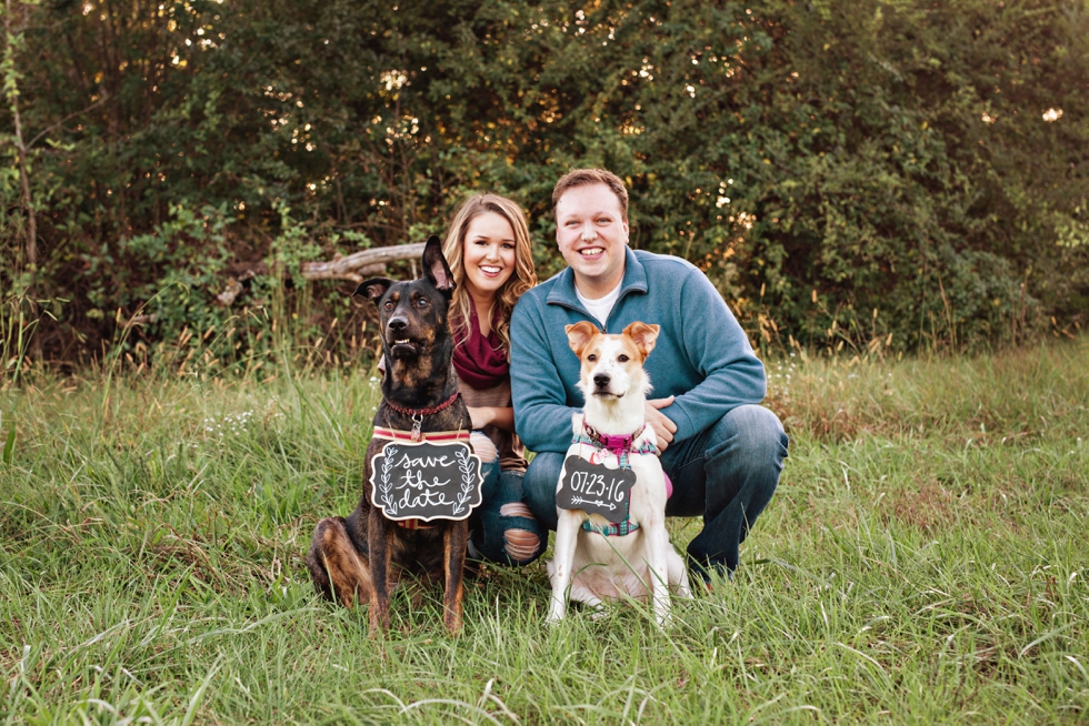 Nashville Fall Engagement Session with Dogs and Save the Date