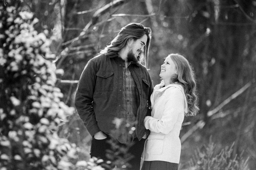 Nashville Wedding Photographer Engagement Session in Snow