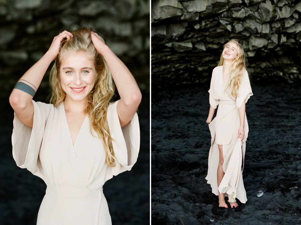Elopement Photographer in Iceland Black Sand Beach