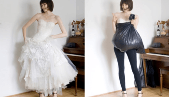 how a trash bag helps you go alone in your wedding dress