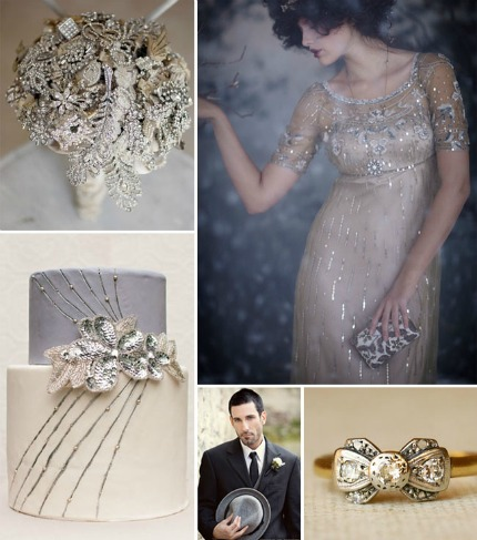 vintage glam winter wedding � diy weddings