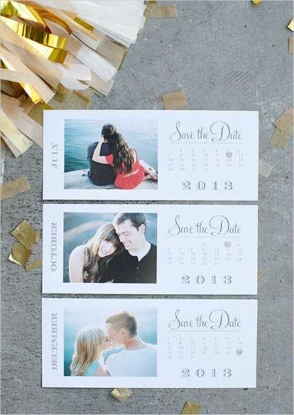 Free Printable 2013 Calendar Save the Date Cards via The Wedding Chicks