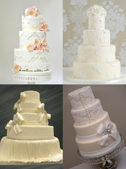 lace wedding cakes via wedding elation