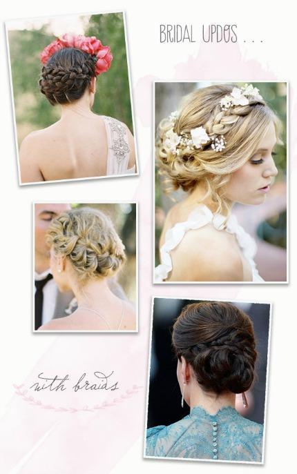 bridal braids via belle & chic