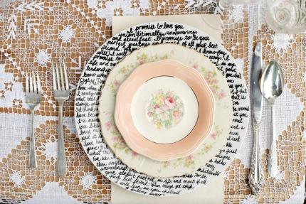 Handwritten Plates ruffledblog.com