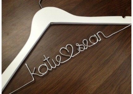 TheWeddingMile.com Personalized Bridal Hanger
