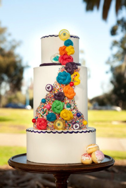 Willy Wonka Inspired Wedding Cake
