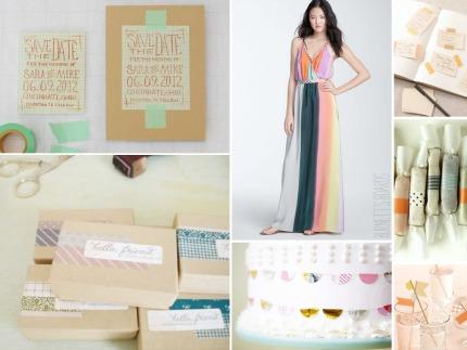 Washi Tape Wedding Ideas via Burnett's Boards