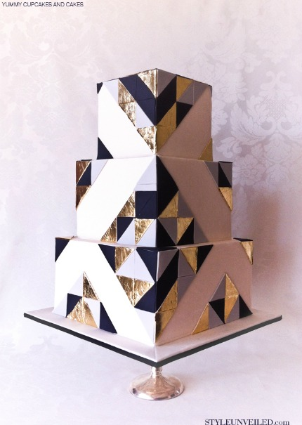 Art Deco Cake by Yummy Cupcakes and Cakes via Style Unveiled