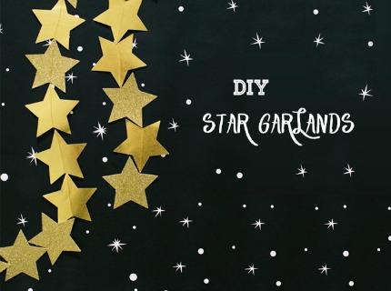 DIY Star Garland via Green Wedding Shoes
