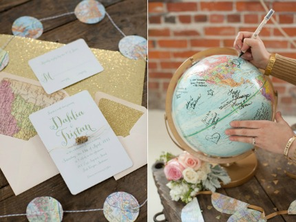 Globetrotter Glam Wedding Inspiration via Ruffled Blog