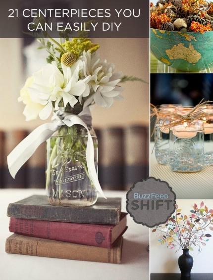 21 Easy DIY Centerpieces for Fall  Winter Weddings  DIY