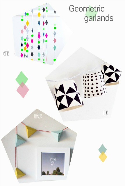 9 Geometric Crafts for Weddings via Belle & Chic