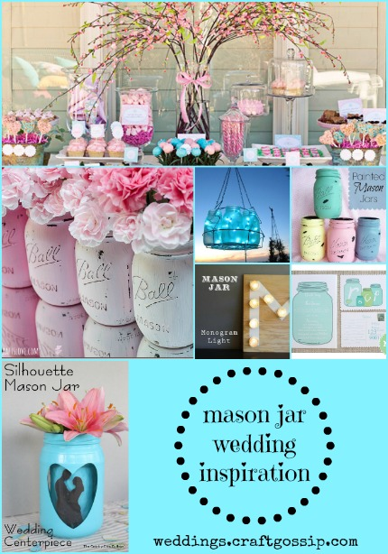 Mason Jar Wedding Inspiration via weddings.craftgossip.com