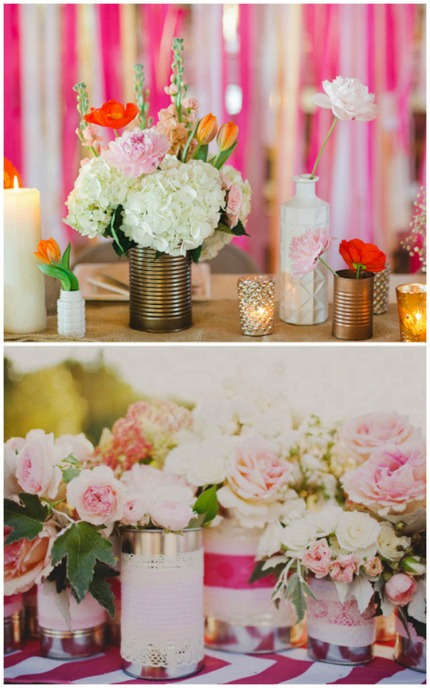 Tin Can Wedding Ideas via Oh Lovely Day