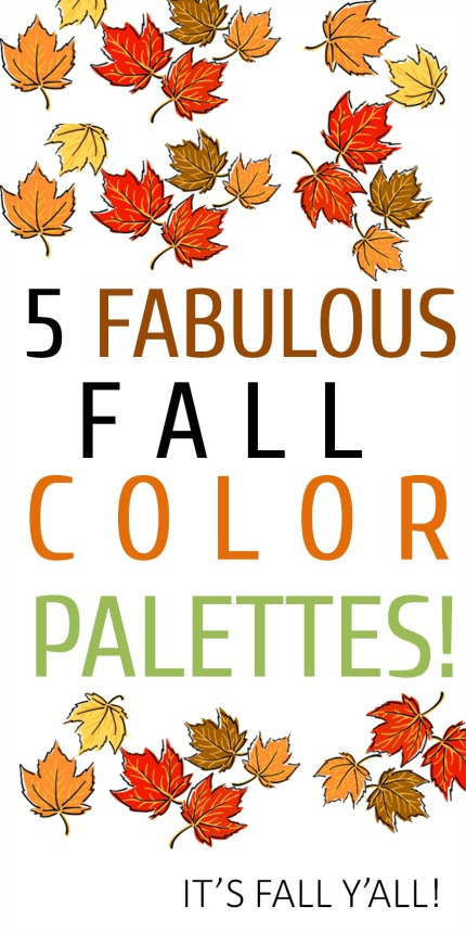 5 Fabulous Fall Color Palettes