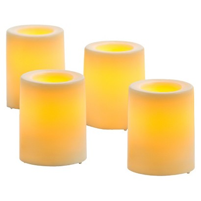Target Wedding Threshold Cream LED Candles 4 Pack