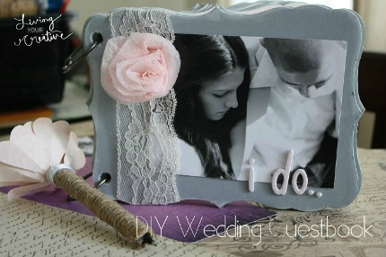 DIY Wedding Guest Book via Living Your Creative