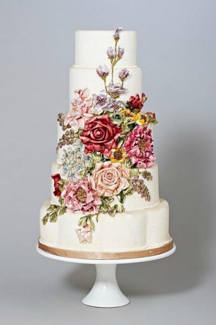 13 Hand Painted Wedding Cakes Diy Weddings