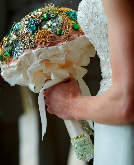 DIY Brooch Bouquet via Life in Velvet