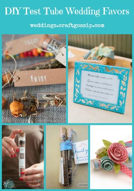 DIY Test Tube Wedding Favors DIY Weddings