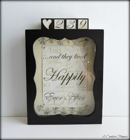 Wedding Date Countdown Tutorial via A Creative Princess