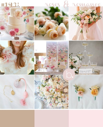 Roses and Romance Wedding Inspiration via b.loved Weddings
