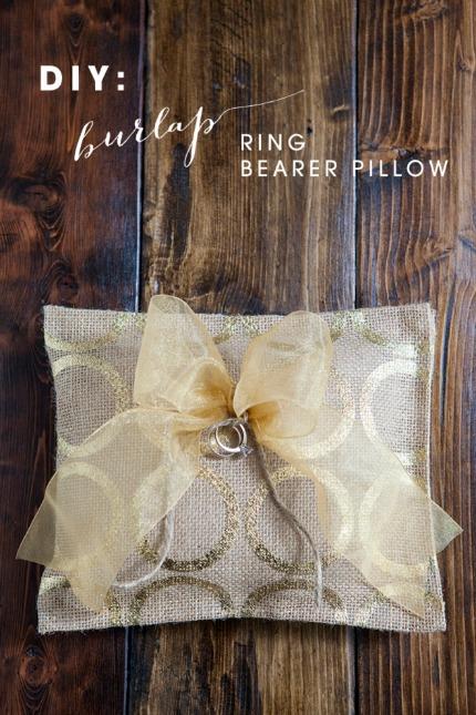 Diy Burlap Ring Bearer Pillow Diy Weddings