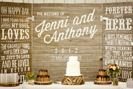 Whimsical Rustic Wedding Dessert Table via Southbound Bride
