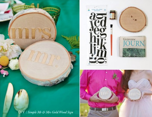 DIY Mr & Mrs Rustic Signs via Hill City Bride
