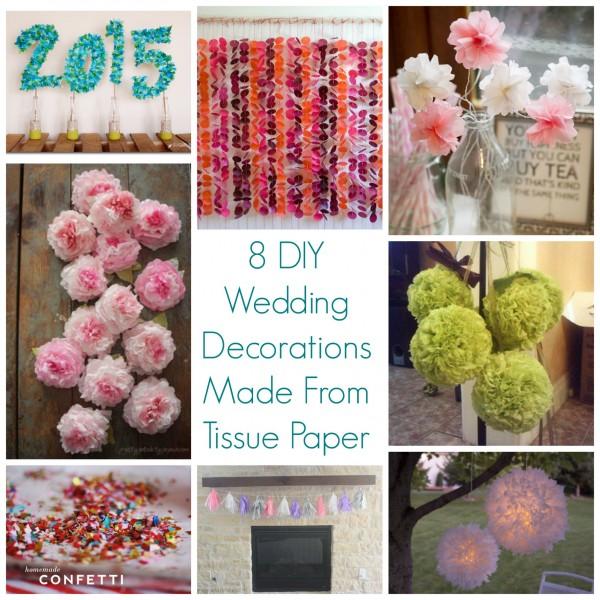 8 diy wedding decorations made from tissue paper diy weddings junglespirit Choice Image