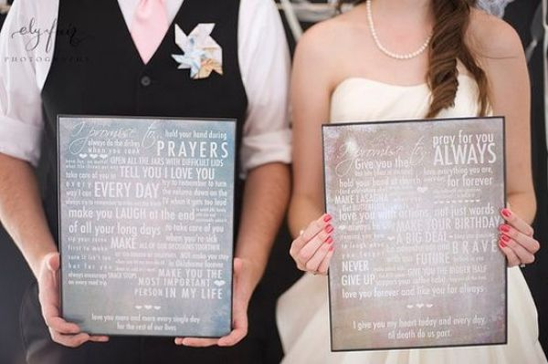 1 framed wedding vows from pouted