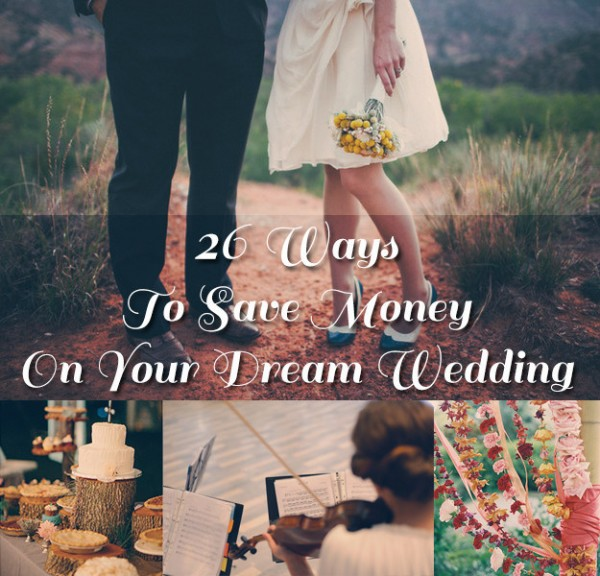 26 ways to save a little on your wedding day diy weddings for Save on crafts wedding