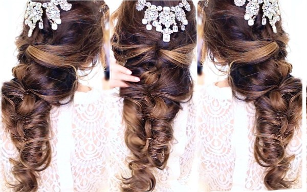 DIY Wedding Hairstyle EASY CrissCross Half UPDO HAIRSTYLE