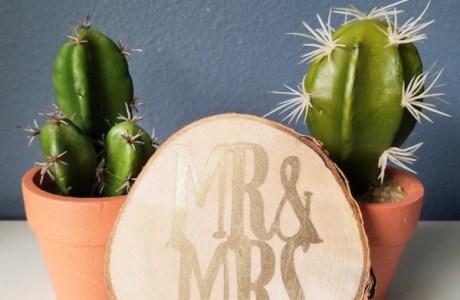 Make Your Own Wedding Sign -Mr & Mrs Wood Sign